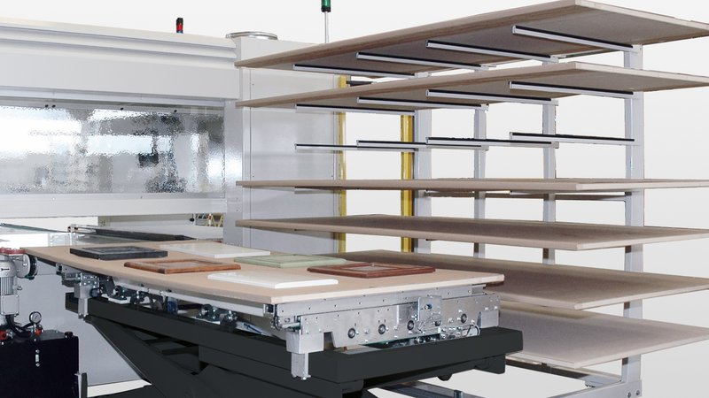 With the two-way function of the rack trolley loading as an option, the production volume can be further increased.