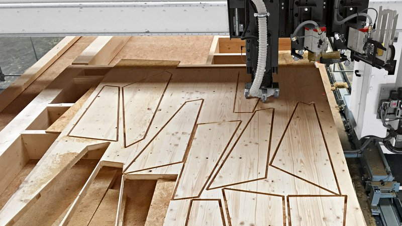 Nesting panel pre-cut with WEINMANN multifunction bridge WALLTEQ