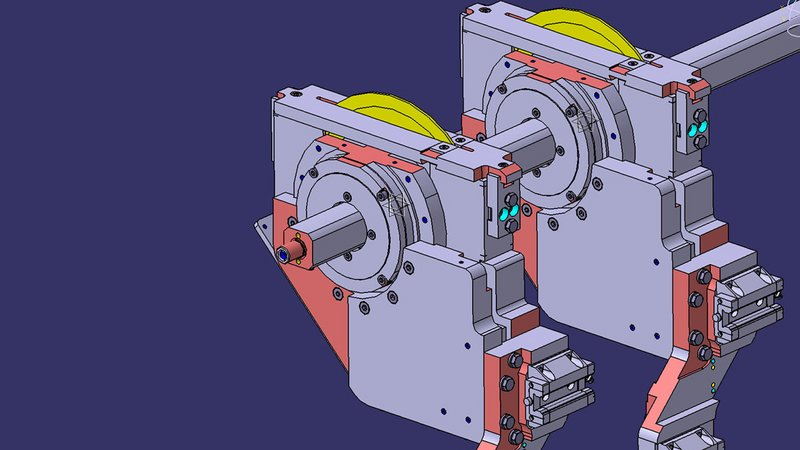 Sawing units with polygon shaft