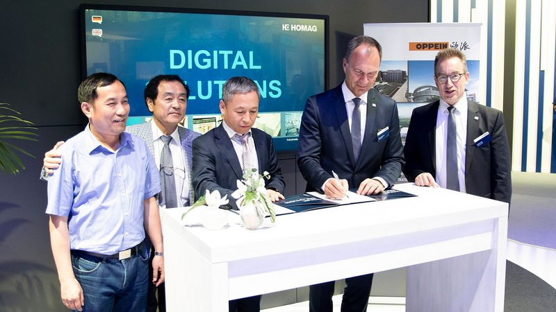 Oppein places its trust in HOMAG for Industry 4.0: Strategic partnership for holistic production concepts