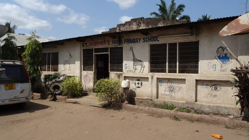 The current St. Justine's School in Kidatu