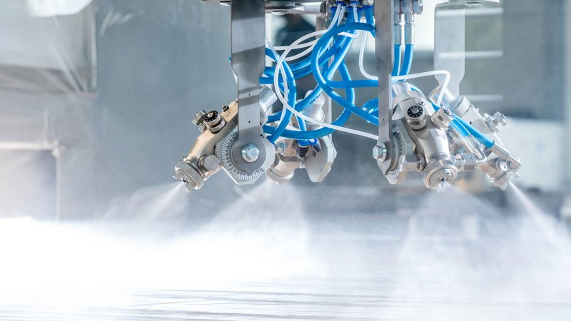Highly efficient: The SPRAYTEQ S-100 is designed for automated spray coating in various machine designs