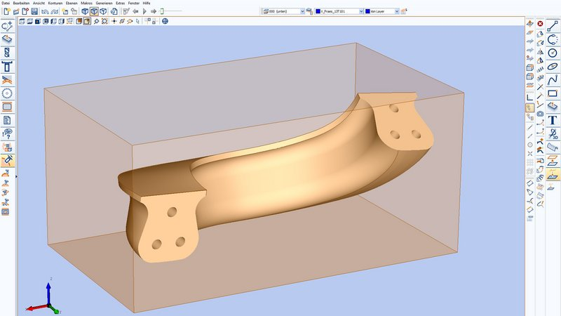 Stair handrail as a 3D model