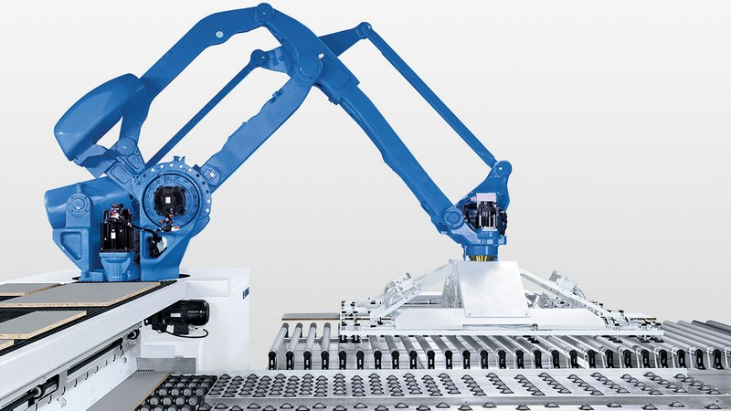 SAWTEQ B-320 flexTec: robot with suction traverse