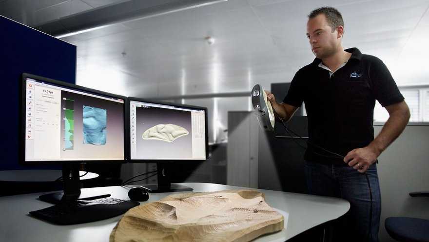 3D scanning to digitize customer objects