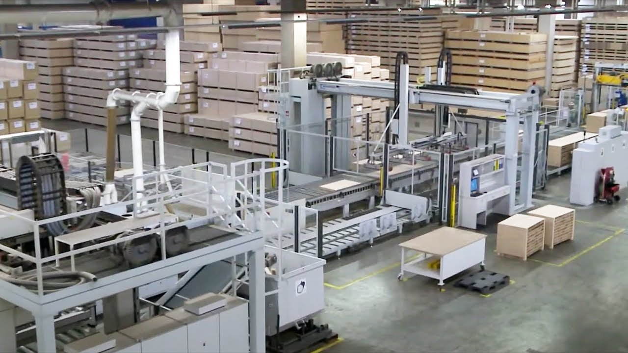 Video: Fully automatic Drilling Line with Robot Handling from HOMAG