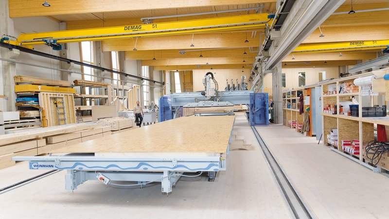 WEINMANN Multifunction bridge, framing table, timber construction, timber frame houses, wall manufacturing
