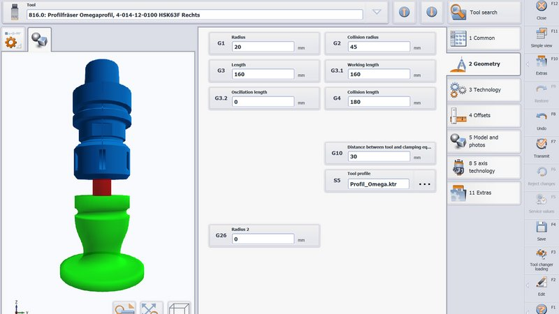 3D tool management of tools an units
