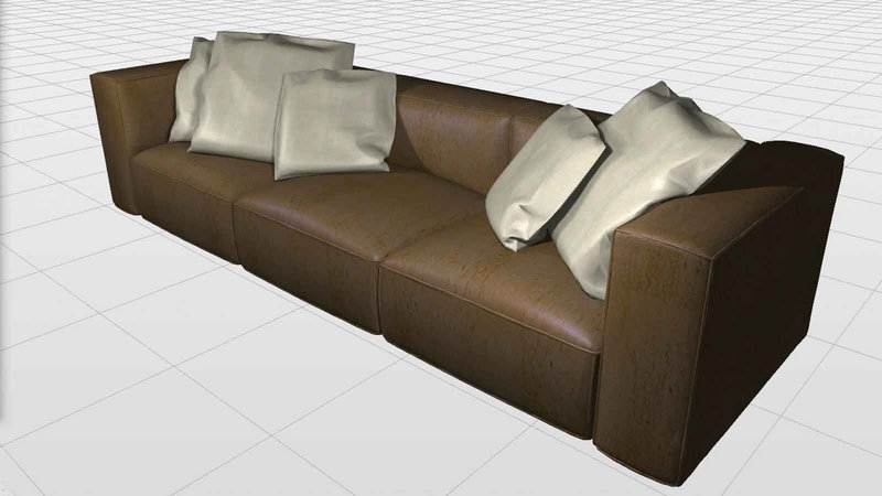 All types of furniture can be designed directly within the dynamic 3D-environment