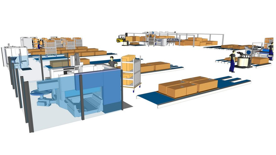 Furniture production plan simulation for a workshop