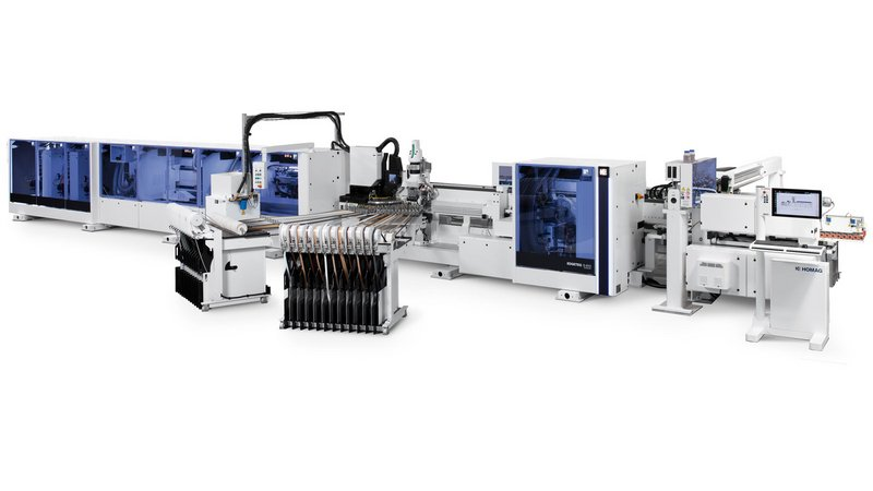 The EDGETEQ S-810 edge banding machine with automated return was a winner with an optimally aligned all-round solution