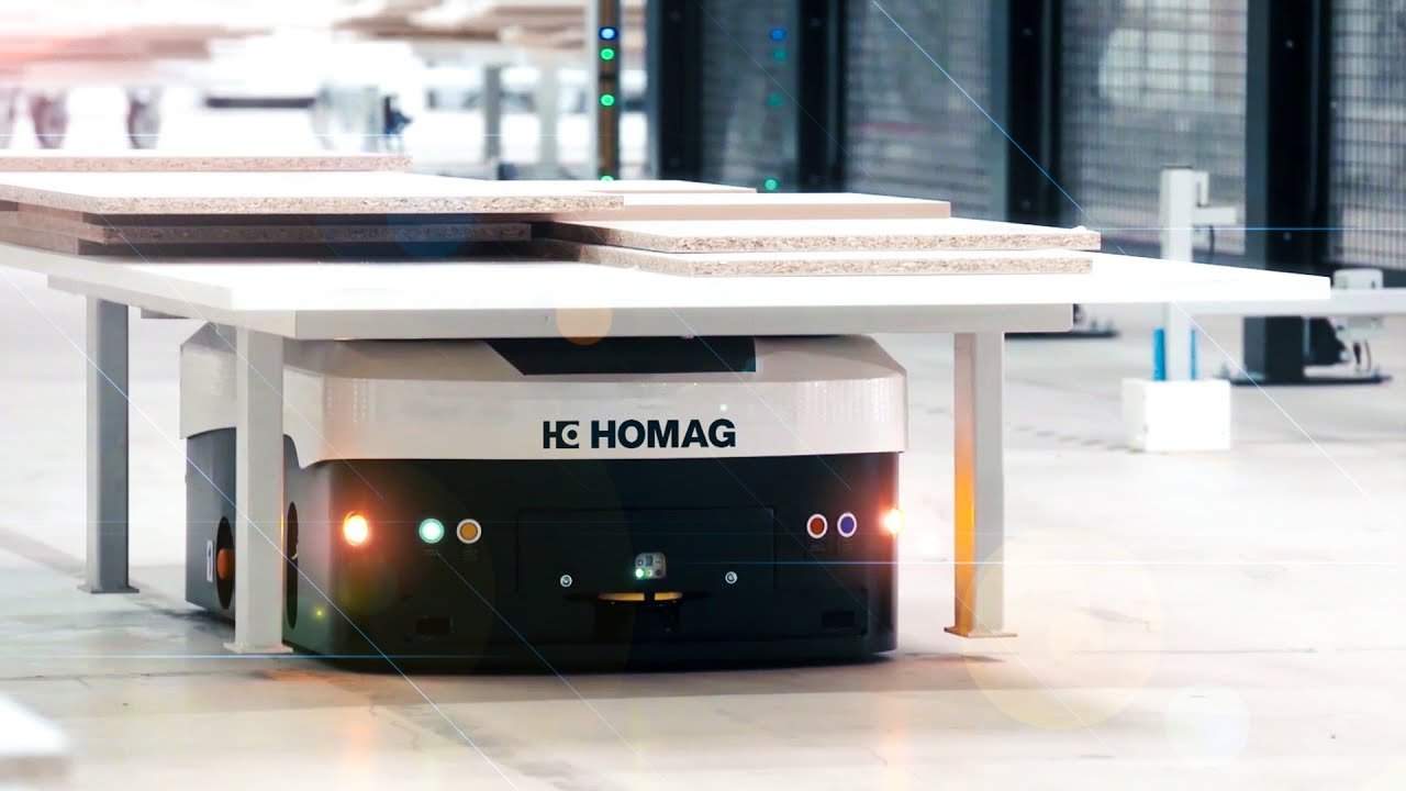 TRANSBOT - Automated guided vehicle system (AGV) | HOMAG