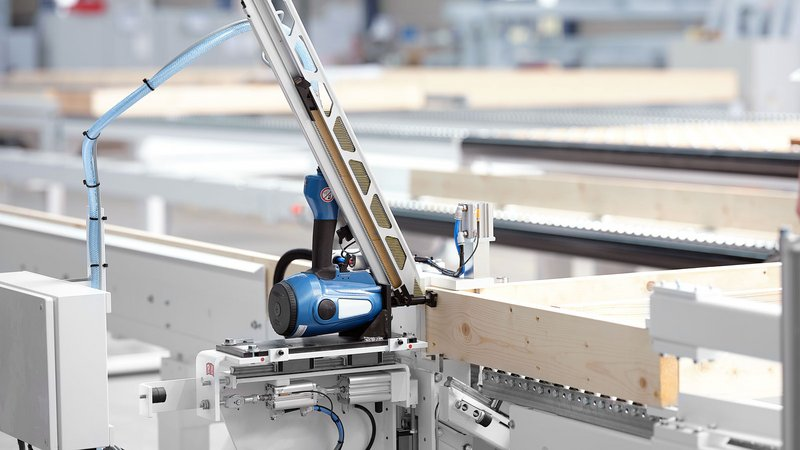 Fastening units can be moved pneumatically
