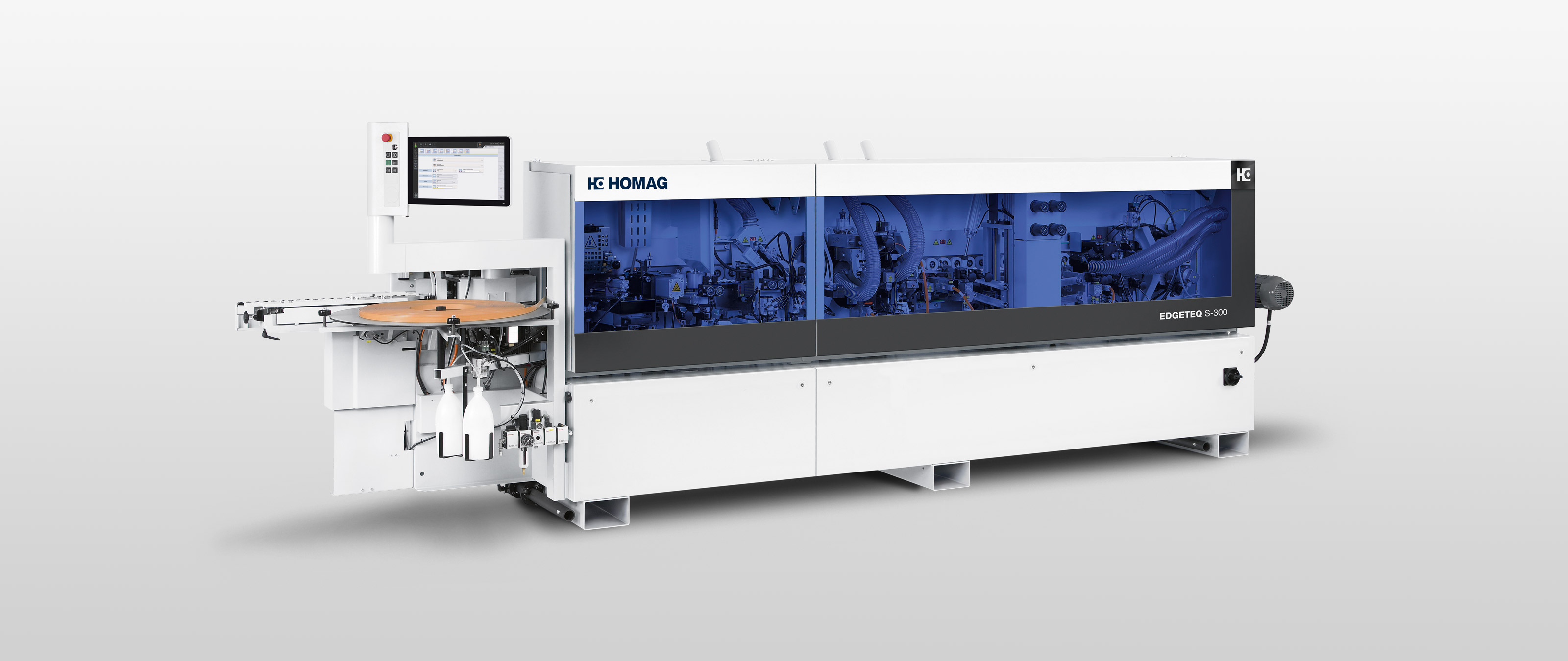 Edge-banding-machine EDGETEQ S-300 from BRANDT