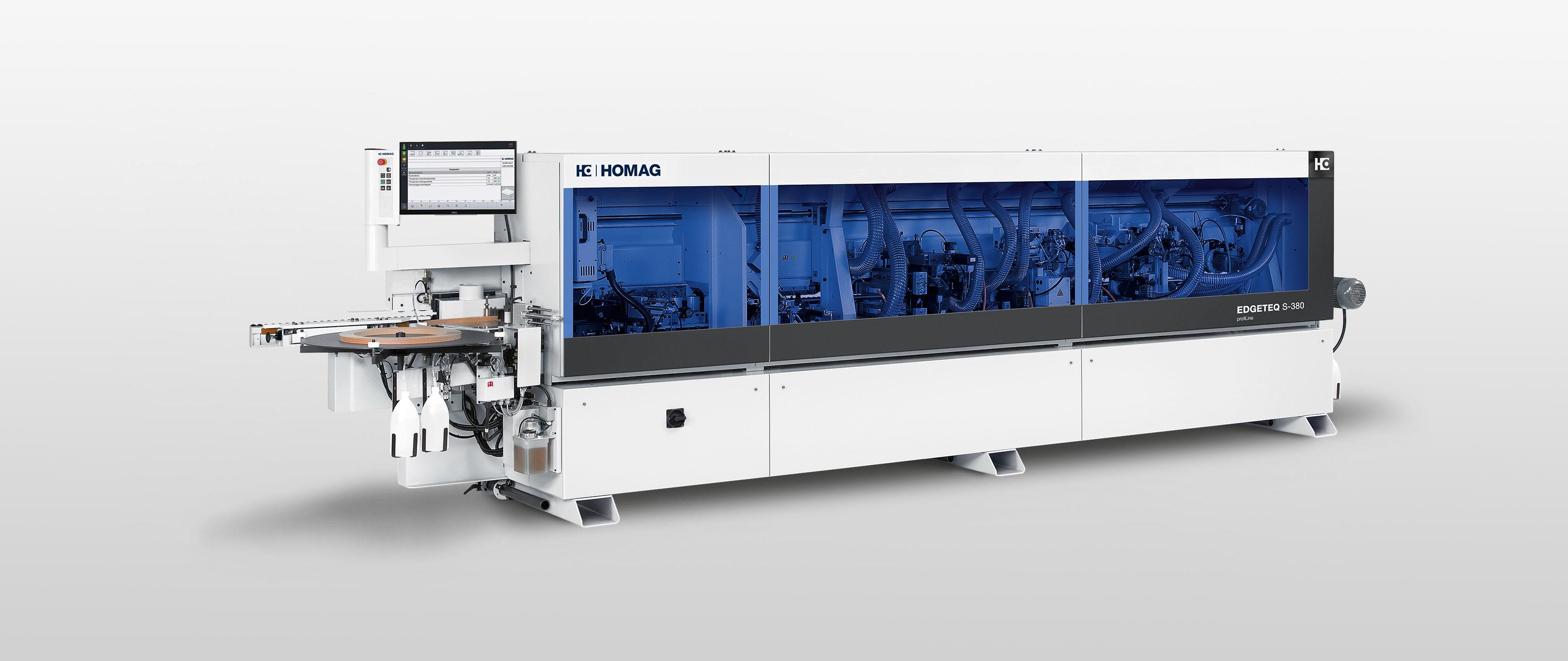 Автоматический кромкооблицовочный станок HOMAG EDGETEQ S-380/390
