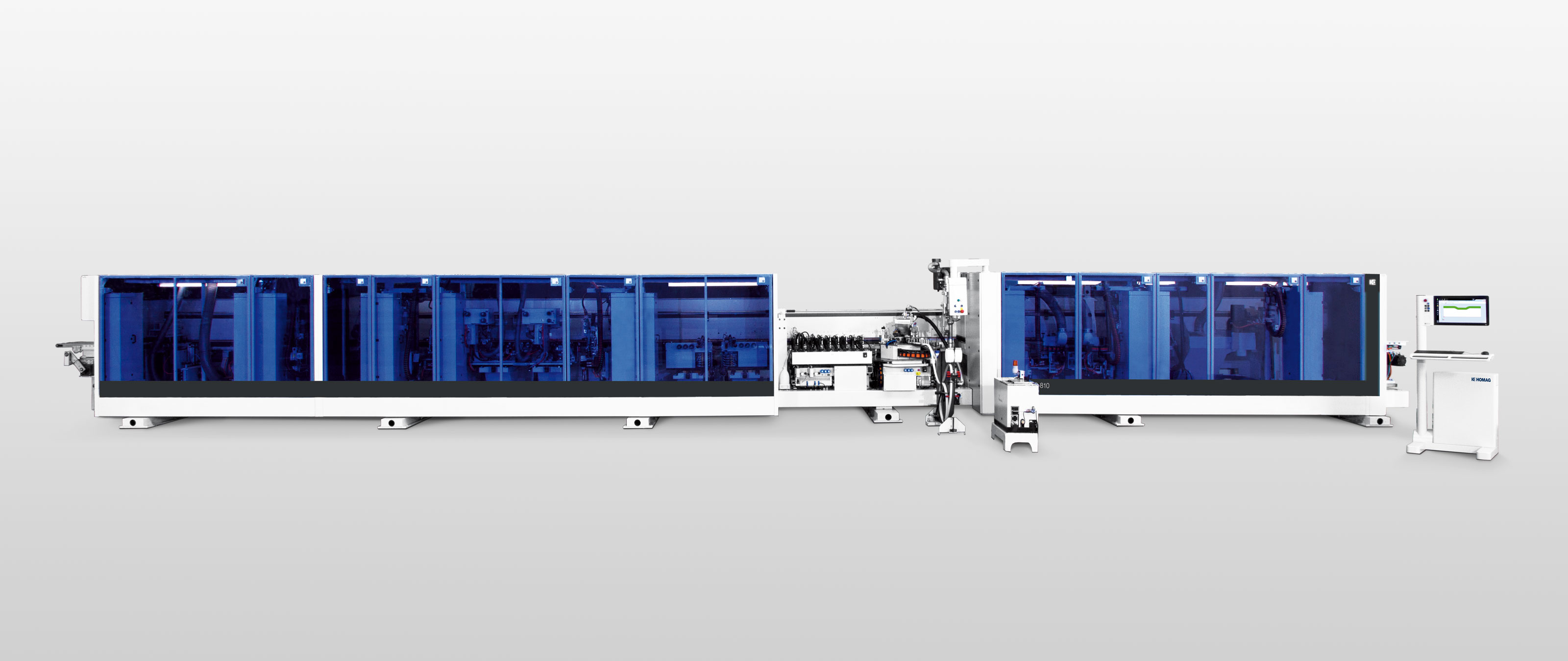 Shaped component throughfeed machines EDGETEQ S-810/CF HOMAG