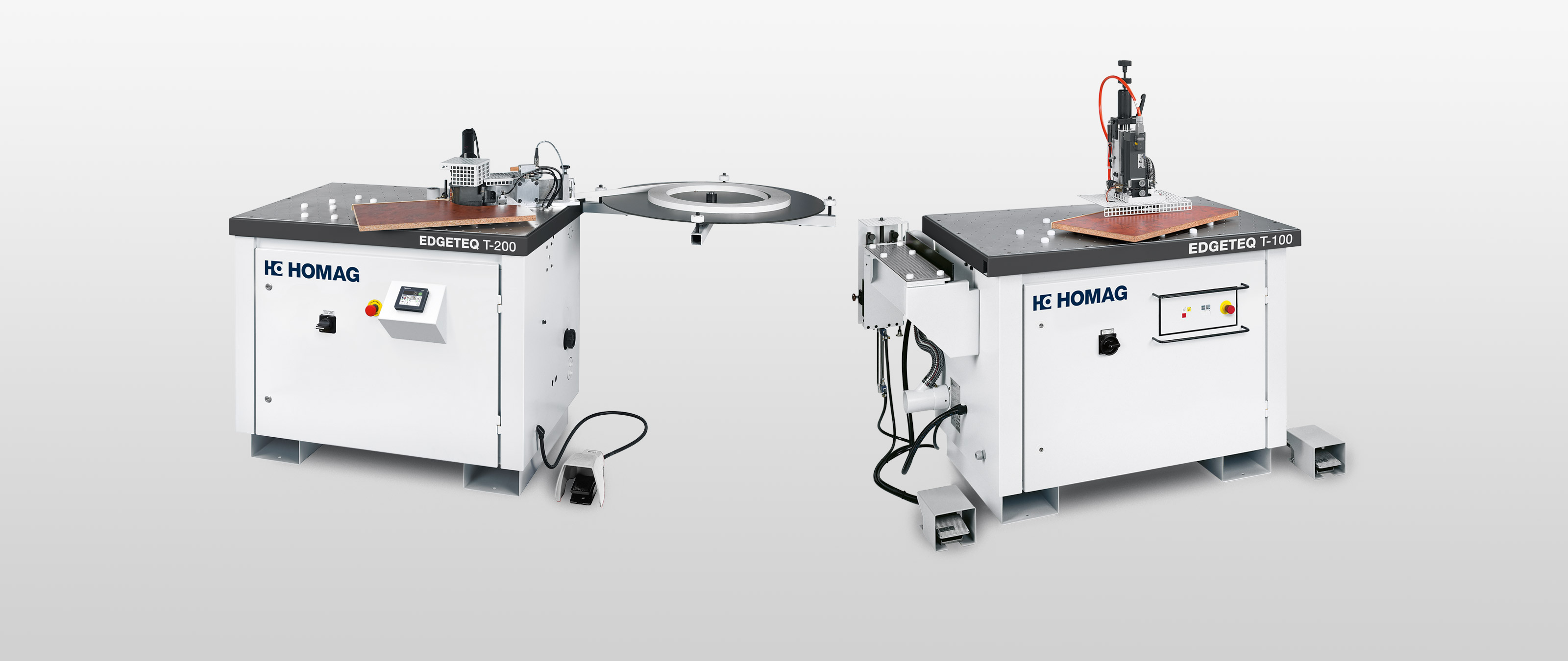 Table-top edge-banding machine / edge-trimming-machine from BRANDT